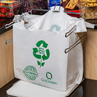 1/6 Size White Reusable Extra Heavy Plastic T-Shirt Bag - 200/Case