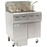 Frymaster FPGL230-2LCA Natural Gas Floor Fryer with Full Right Frypot / Left Split Pot and Automatic Top Off - 150,000 BTU