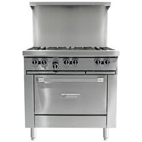 Garland G36-G36S Natural Gas Range with 36 inch Griddle and Storage Base - 54,000 BTU