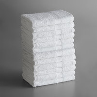 Lavex Lodging Economy 20 inch x 30 inch 100% Cotton Bath Mat 6 lb. - 12/Pack
