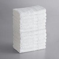 Lavex Lodging Economy 20 inch x 30 inch 100% Cotton Bath Mat 6 lb. - 12/Pack