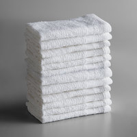 Lavex Lodging Economy 12 inch x 12 inch 100% Cotton Wash Cloth .75 lb.   - 12/Pack