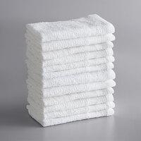 Lavex Lodging Economy 12 inch x 12 inch 100% Cotton Wash Cloth .75 lb.   - 12/Pack
