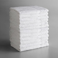 Lavex Lodging Economy 24 inch x 48 inch 100% Cotton Bath Towel 8 lb.   - 12/Pack