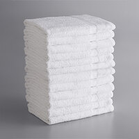 Lavex Lodging Economy 24 inch x 48 inch 100% Cotton Bath Towel 8 lb.   - 12/Pack
