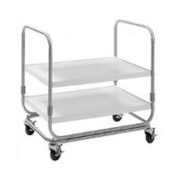 Delfield UCE-1727SS Two Shelf Stainless Steel Utility Cart - 25 inch x 17 inch