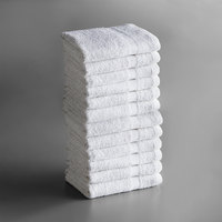 Lavex Lodging Economy 16 inch x 27 inch 100% Cotton Hand Towel 3.5 lb. - 12/Pack
