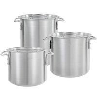 Choice 6-Piece Aluminum Stock Pot Set