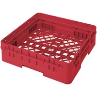 Cambro BR414163 Red Camrack Full Size Open Base Rack with 1 Extender