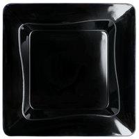 Fineline B6200-BK Tiny Temptations 3 inch x 3 inch Tiny Trays Black Disposable Plastic Tray - 200/Case