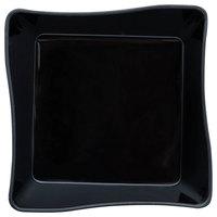Fineline B6201-BK Tiny Temptations 2 1/4 inch x 2 1/4 inch Black Disposable Plastic Tray - 200/Case