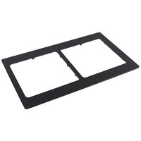 Bon Chef 52047BLK EZ Fit Black Bonstone Full Size Tile with Two Cutouts for 9501