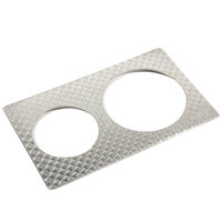 Bon Chef 5210926230003 E-Z Fit Circles Stainless Steel Full-Size Tile for 62303NC and 62300NC