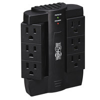 Tripp Lite SWIVEL6 Black 6 Swivel Outlet Direct Plug-In Surge Suppressor, 1500 Joules