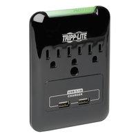 Tripp Lite SK30USB Black 3 Outlet 2 USB Direct Plug-In Surge Suppressor, 540 Joules