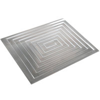 Bon Chef 52103 EZ Fit Rectangle Stainless Steel 1 1/2-Size Tile