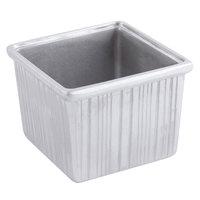 Bon Chef 9503P 28 oz. Pewter Glo Cast Aluminum Straight Sided Square Bowl
