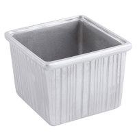 Bon Chef 9501P 232 oz. Pewter Glo Cast Aluminum Straight Sided Square Bowl