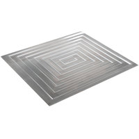 Bon Chef 52102 EZ Fit Rectangle Stainless Steel Half-Size Tile