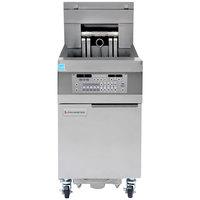 Frymaster 11814EF Oil Conserving 60 lb. Electric Floor Fryer with SMART4U Lane Controls and Filtration System - 240V, 3 Phase, 17 kW