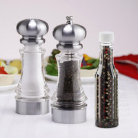 Chef Specialties 96856 7 inch Lehigh Acrylic Pepper Mill and Salt Shaker Set