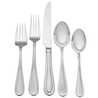 Reed & Barton Berkshire Matte Stainless Steel Extra Heavy Weight 60-Piece Flatware Place Setting