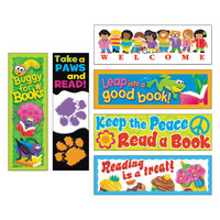 Trend T-12906 Reading Fun 2 inch x 6 inch Bookmark Variety Pack #1 - 216/Pack