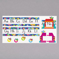 Trend T-8364 Owl-Stars Alphabet Line Standard Manuscript Bulletin Board Set