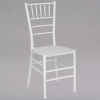 Flash Furniture LE-WHITE-M-GG Hercules Series White Resin Chiavari Outdoor / Indoor Stackable Chair