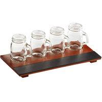 Acopa Chalkboard Tray with Mason Jar Tasting Glasses