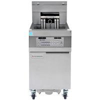 Frymaster 11814EF Oil Conserving 60 lb. Electric Floor Fryer with SMART4U Lane Controls and Filtration System - 208V, 3 Phase, 17 kW