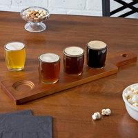 Acopa Beer Flight Set - 4 Beer Tasting Glasses with Dual-Sided Walnut Wood Beer Flight Sampler Paddle