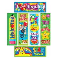Trend T-12907 Reading Fun 2 inch x 6 inch Bookmark Variety Pack #2   - 216/Pack