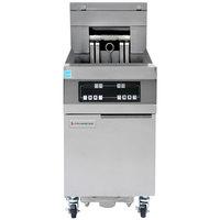 Frymaster 11814EF Oil Conserving 60 lb. Electric Floor Fryer with Digital Controller and Filtration System - 208V, 3 Phase, 17 kW