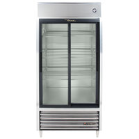 True TSD-33G-LD Two Section Sliding Glass Door Reach In Refrigerator with LED Lighting