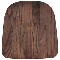 Flash Furniture CH-31230M1D-GG Rustic Walnut Wood Chair Seat