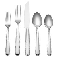 Reed & Barton Stitch Stainless Steel Extra Heavy Weight 60-Piece Flatware Place Setting