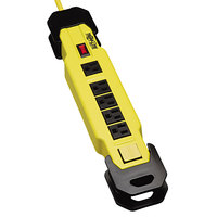 Tripp Lite TLM609GF Power It! 9' Yellow 6 Outlet Safety Power Strip with GFCI Plugs