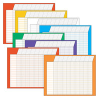 Trend T-73902 28 inch x 22 inch Horizontal Incentive Chart in Assorted Colors - 8/Pack