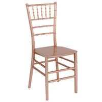 Flash Furniture LE-ROSE-M-GG Hercules Series Rose Gold Resin Chiavari Outdoor / Indoor Stackable Chair