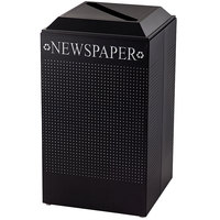 Rubbermaid DCR24P Silhouettes Textured Black Designer Recycling Receptacle - Paper 29 Gallon (FGDCR24PTBK)