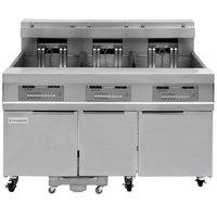 Frymaster 31814EF Oil Conserving 180 lb. Electric 3 Unit Floor Fryer with SMART4U 3000 Controls and Filtration System - 208V, 3 Phase, 51 kW