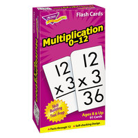 Trend T-53105 3 inch x 6 inch Multiplication Flash Cards 0-12
