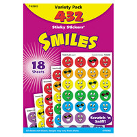 Trend T-83903 Stinky Stickers Smiles Scratch and Sniff Variety Pack   - 432/Pack