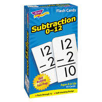 Trend T-53103 3 inch x 6 inch Subtraction Flash Cards 0-12