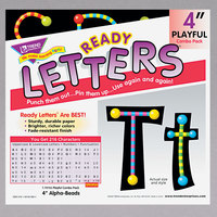 Trend T-79755MP Ready Letters Alpha-Beads 4 inch Uppercase and Lowercase Combo Pack
