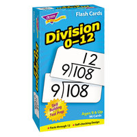 Trend T-53106 3 inch x 6 inch Division Flash Cards 0-12