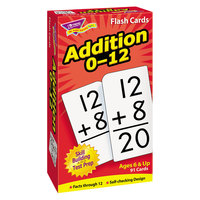 Trend T-53101 3 inch x 6 inch Addition Flash Cards 0-12