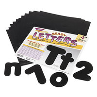 Trend T79901 Ready Letters 4 inch Black Casual Combo Set - 182/Set