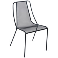 BFM Seating SU1600CBL Kingston Black Stackable Steel Side Chair